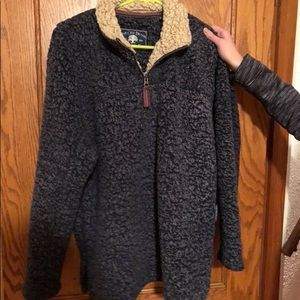 pull over Sherpa jacket